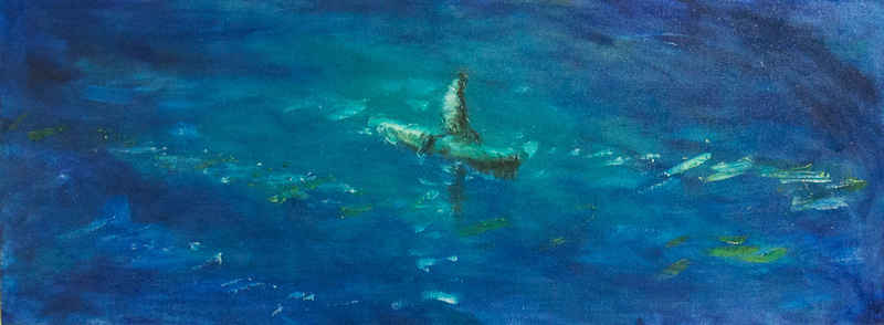 Lake Malawi - Oil on Canvas - 88x32 cm - 2014 (sold)