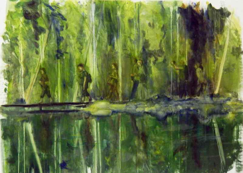 Plitvice - Oil on Canvas - 122x87 cm - 2014 (not for sale)